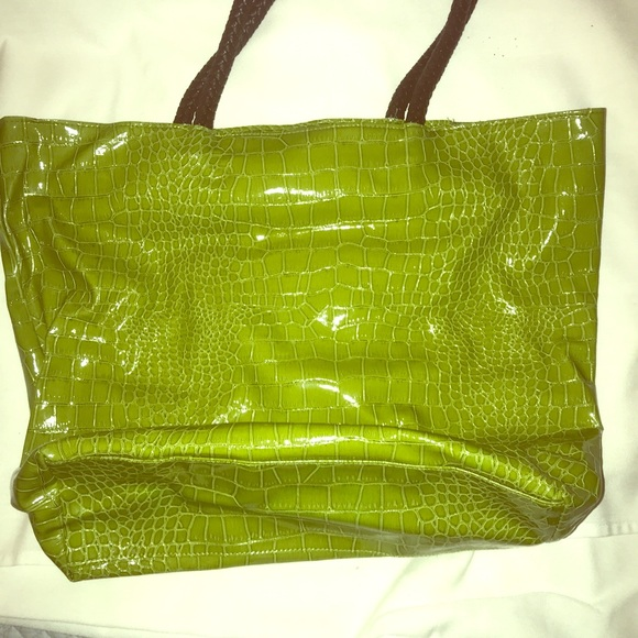 Neiman Marcus Handbags - Green tote for shopping in a fun color